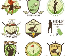 Golf sport label vector
