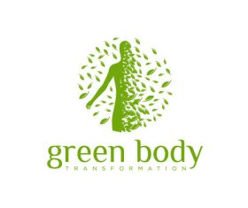 Green Body logo creative design vector