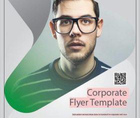 Green Corporate Flyer Template vector