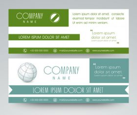 Green and Light Cyan Website Header Banner vector