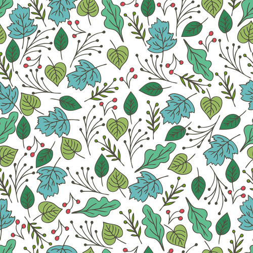 Green plant seamless pattern background vector