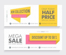 Half price sale banner vector