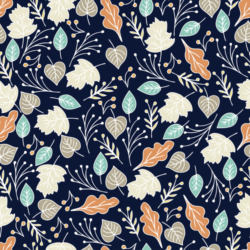 Hand drawn botanical seamless pattern vector