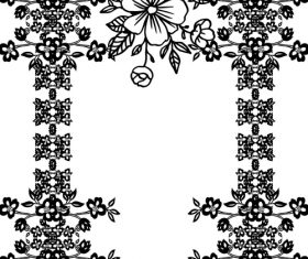 Hand drawn flower with ornaments decor vector