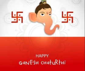 Happy Ganesh Chaturthi cover vector