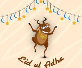 Happy Muslim festival of sacrifice vector