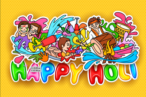Happy holiday illustration vectors