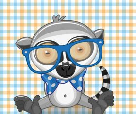 Hipster Animals vector