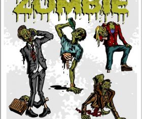 Horror cartoon zombie vectors