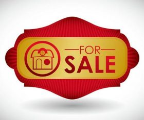 House for sale label vector