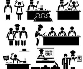 How to cook icon vector
