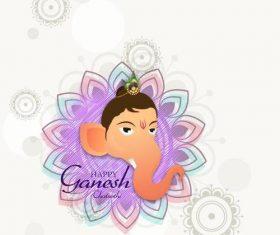 Indian Ganesh Chaturthi background vector