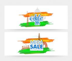 Indian Republic Day Merchandise Discount Banner vector