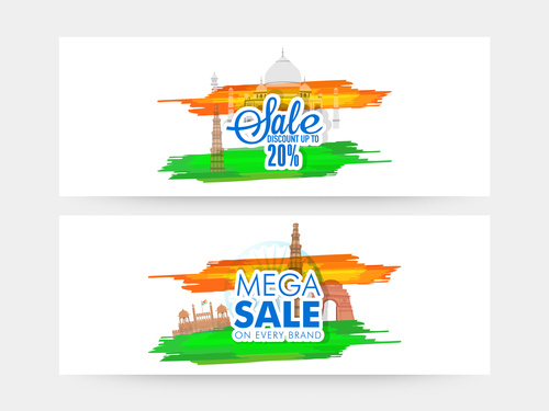 Indian Republic Day Merchandise Discount Banner vector