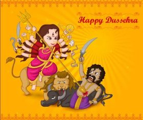 Indian tradition Dussehra vectors