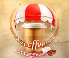 Instant coffee cover vector