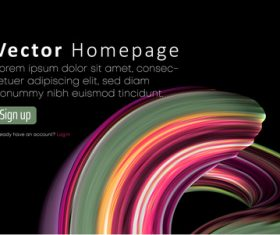 Internet home page design of template vectors