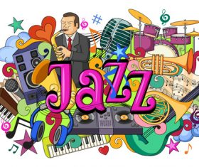 Jazz illustration vectors