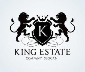 King estate logo vector