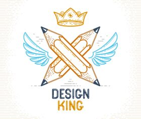 King logo creative design vectors