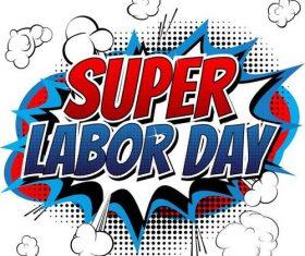 Labor day style comic vectors