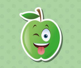 Laugh emoticon icon vector