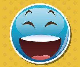 Laugh out loudly emoticon icon vector