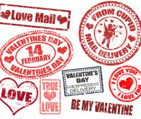 Love stamp vectors