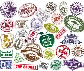 Mega Set Of Stamp vectors