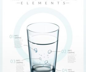 Mineral Water Infographic Template Design vector