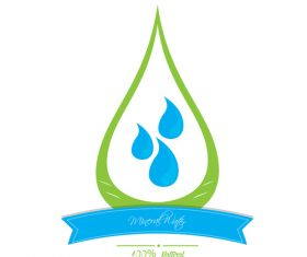 Mineral Water Logo vector