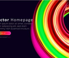 Multicolor website template vector homepage design vectors