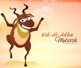 Muslim festival of sacrifice goat vector