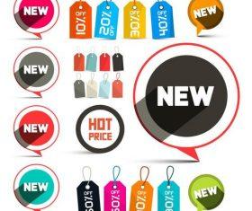 New price stickers vectors