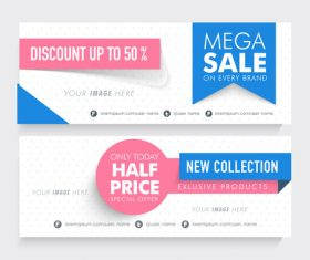 New product sale banner vector