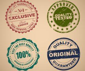Old Stamp Quality set vector