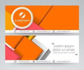 Orange website Header and Banner vector