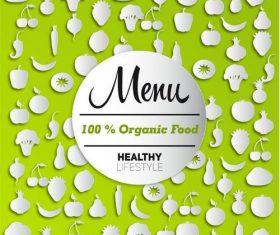 Organic food menu silhouette vectors