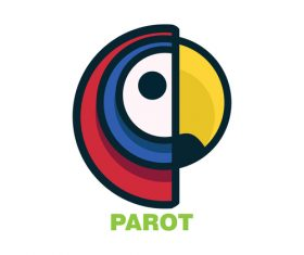 Parot logo creative design vector