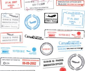 Passenger style stamp vectors