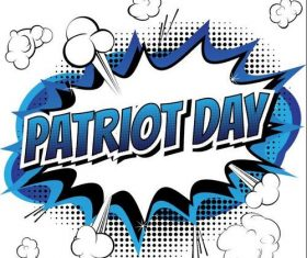 Patriot day promotional cover vectors