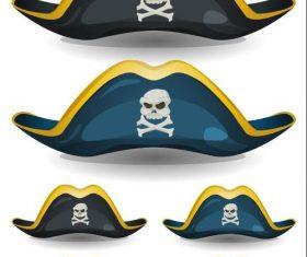 Pirate hat cartoon vector