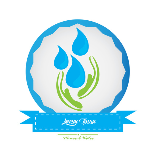 Protect water source logo vector