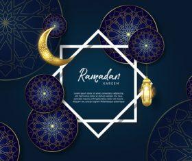 Ramadan kareem with eid mubarak festival design vector