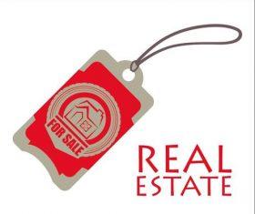 Real estate design tag vector