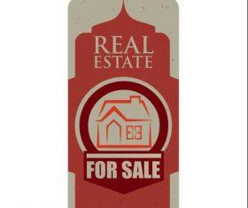 Real estate for sale label vector