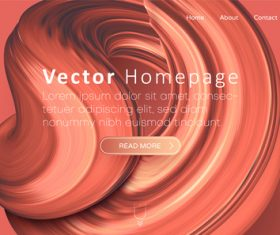 Red Internet home page template design vectors