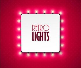 Red background square lights vector