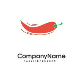 Red pepper vector logo