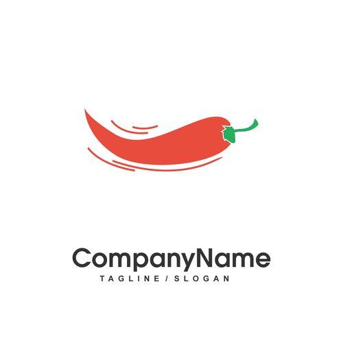 Red pepper vector logo